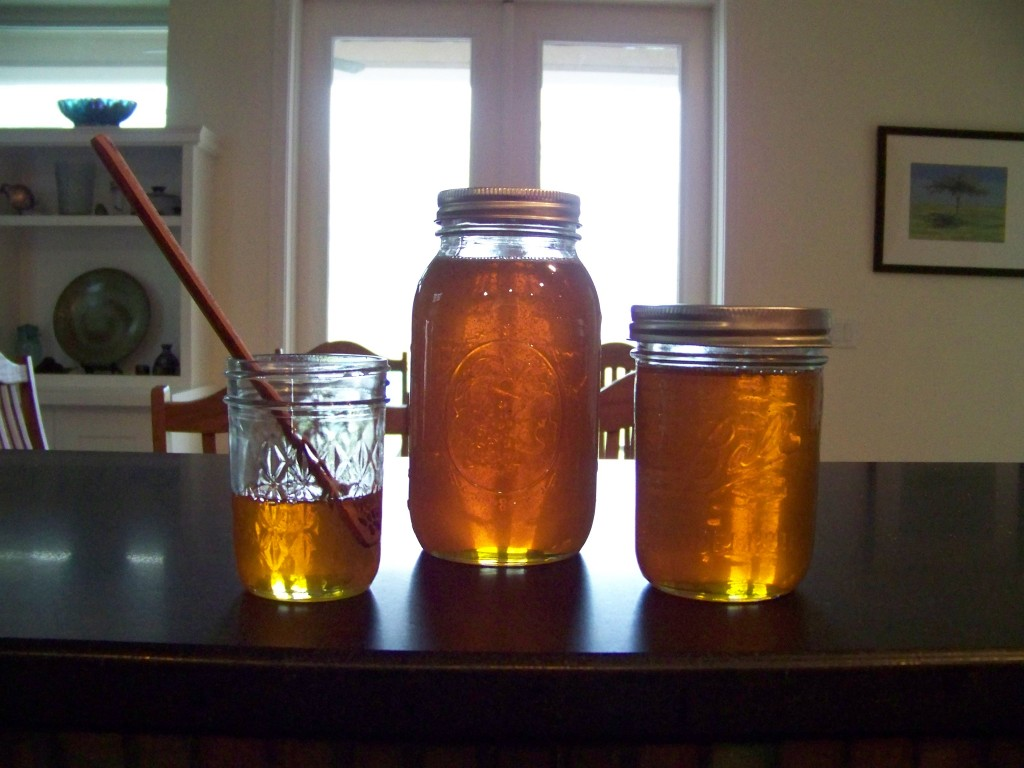 Honey collected from a single frame, October 2012