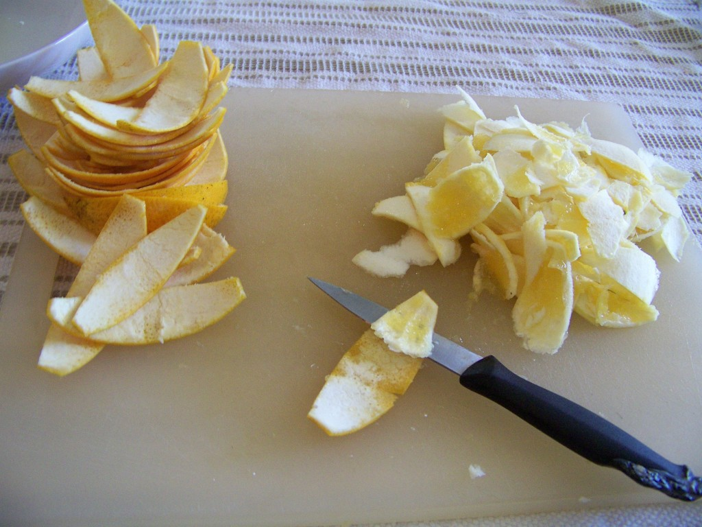 Removing the pith