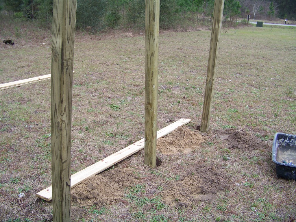 Posts in holes