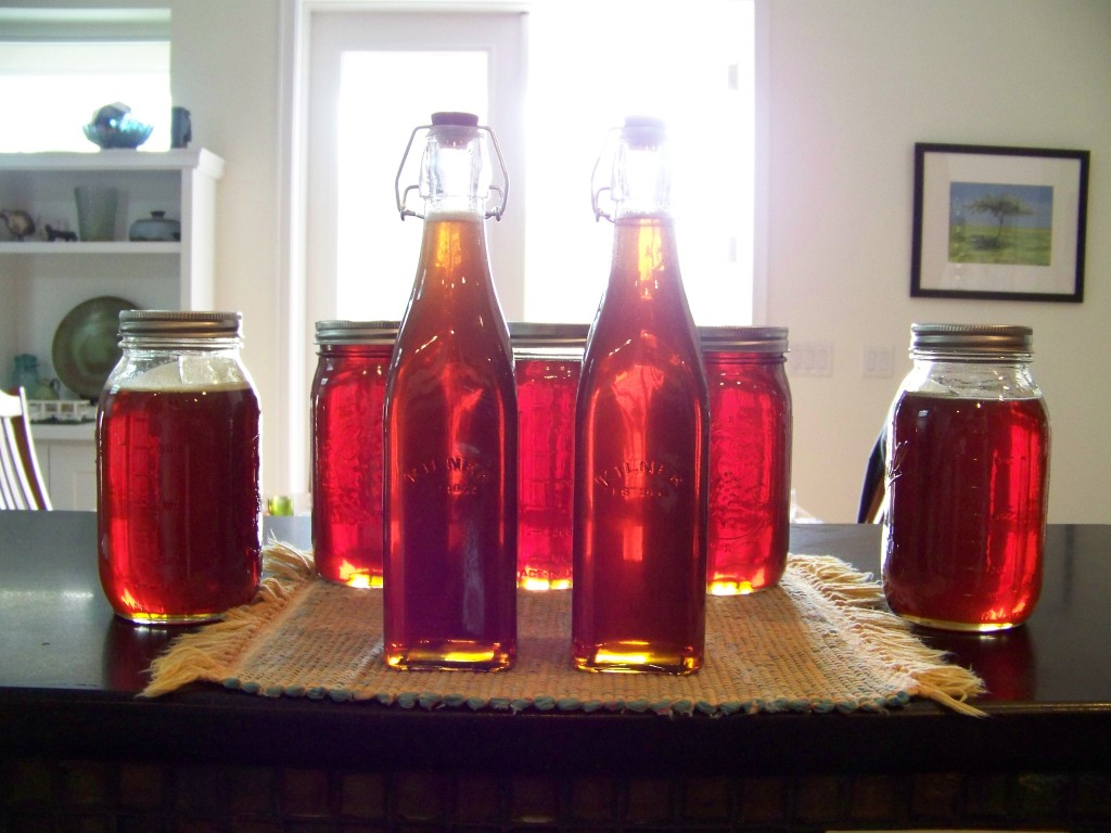 Honey in Kilner bottles