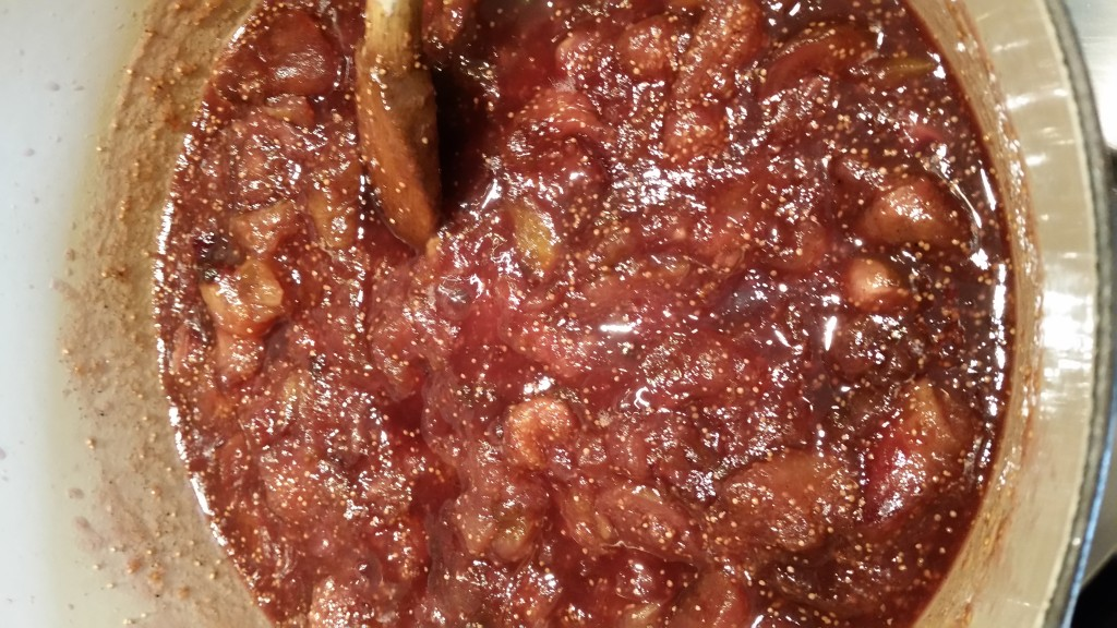 Cooked vanilla fig jam